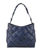 Nancy Gonzalez Marly Medium Woven Python Hobo Bag