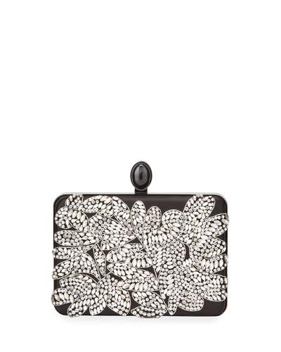 Embellished Satin Box Clutch Bag