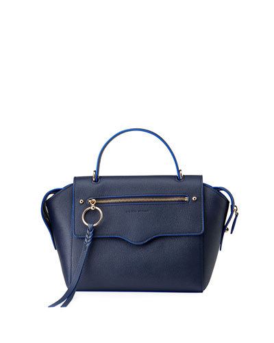 Gabby Leather Top Handle Satchel Bag