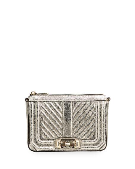 Rebecca Minkoff Love Chevron Quilted Top-Zip Crossbody Bag