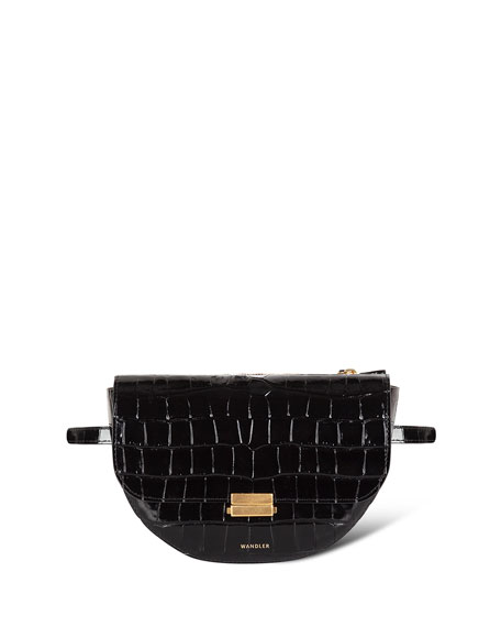Wandler Anna Croco Leather Belt Bag