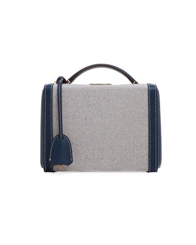 Grace Small Leather/Birdseye Box Bag