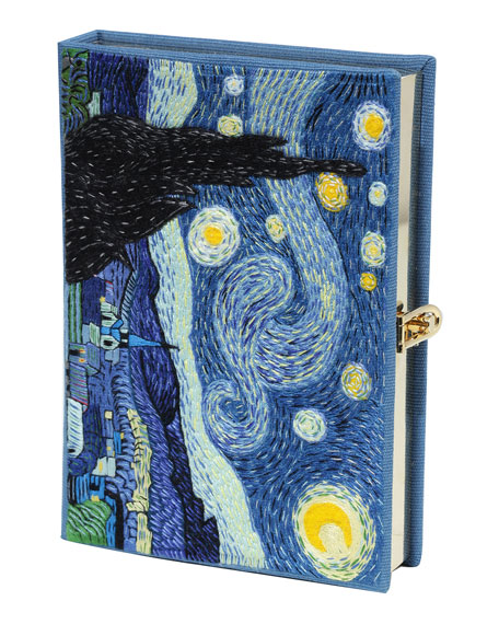 Olympia Le-Tan Van Gogh Starry Night Book Clutch Bag