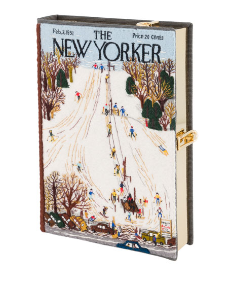Olympia Le-Tan The New Yorker Ski Resort Strapped Book Clutch Bag