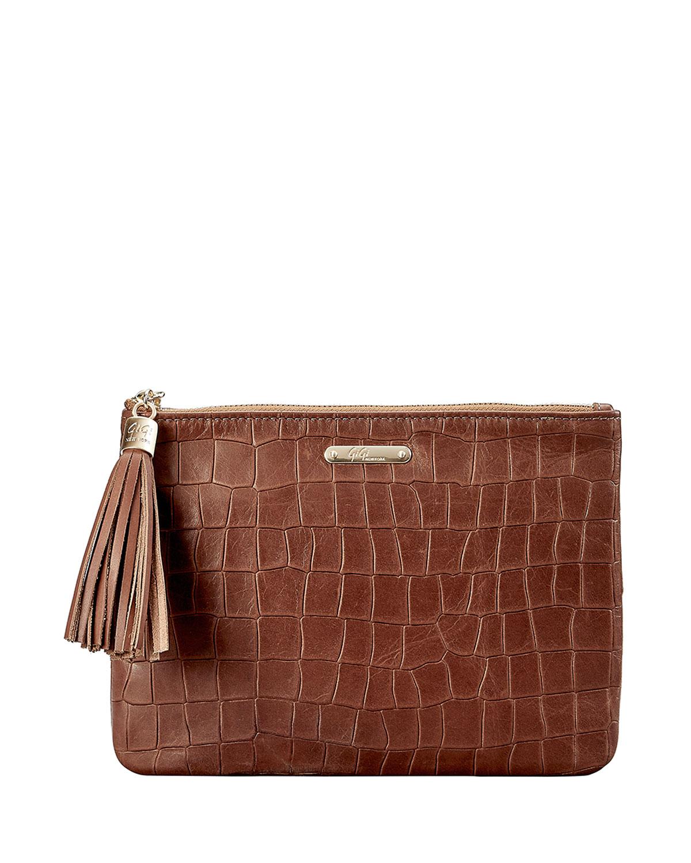 All In One Mock-Croc Clutch Bag