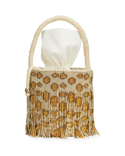 Mini Straw Top Handle Basket Tote Bag