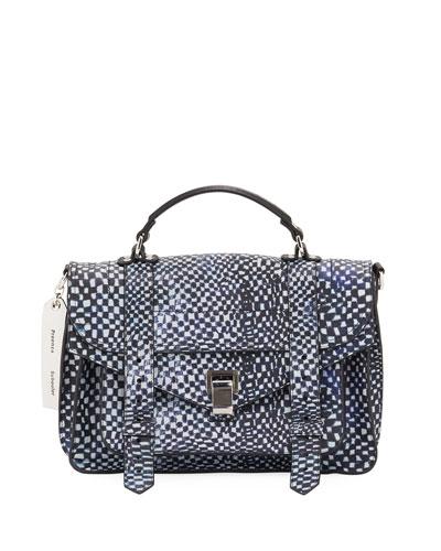 Ps1 Micro Printed Leather Top-Handle Bag