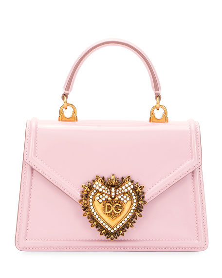 Dolce & Gabbana Devotion Mini Leather Top-Handle Bag with Sacred Heart