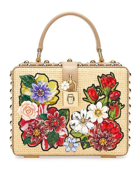 Dolce & Gabbana Jeweled Box Top-Handle Bag