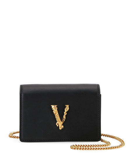 Versace Virtus Card Case on Crossbody Chain