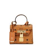 MCM Heritage X-Mini Visetos Satchel Bag