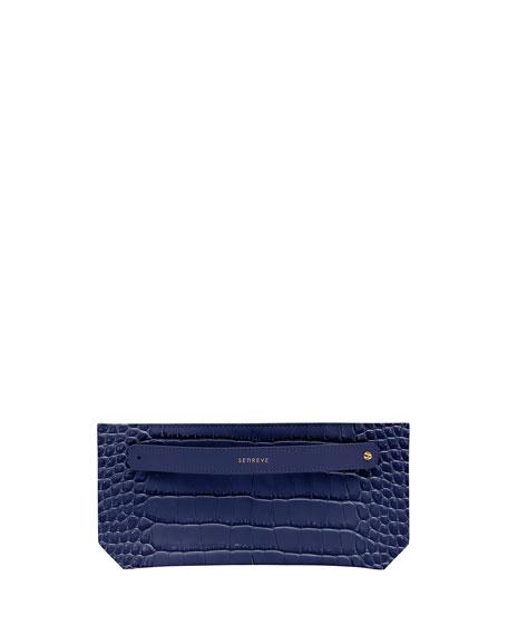 Senreve Mock-Croc Bracelet Zip Pouch Bag