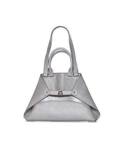 Aicon Small Metallic Double-Handle Tote Bag