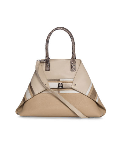 Ai Small Orizzonte Patchwork Tote Bag