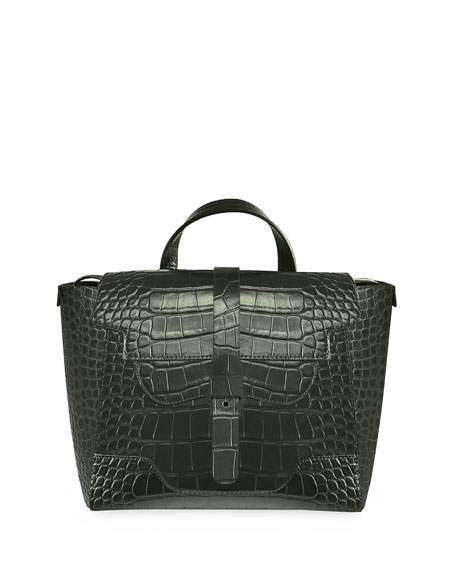 Senreve Maestra Mock-Croc Convertible Backpack Satchel Bag