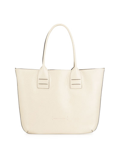 Reversible Mixed Leather Tote Bag