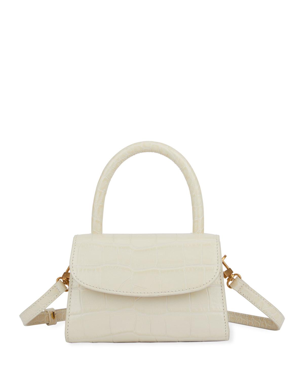 Mini Croc-Embossed Leather Top-Handle Bag
