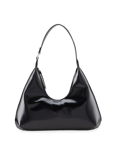 Amber Semi-Patent Leather Bag