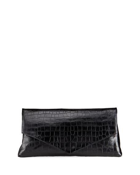 Dries Van Noten Oversized Embossed Envelope Clutch Bag