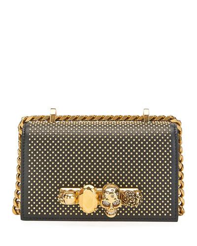 Mini Jewelled Studded Satchel Bag