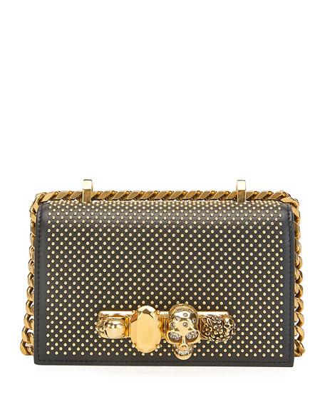 Alexander McQueen Mini Jewelled Studded Satchel Bag