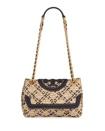 Fleming Raffia Shoulder Bag