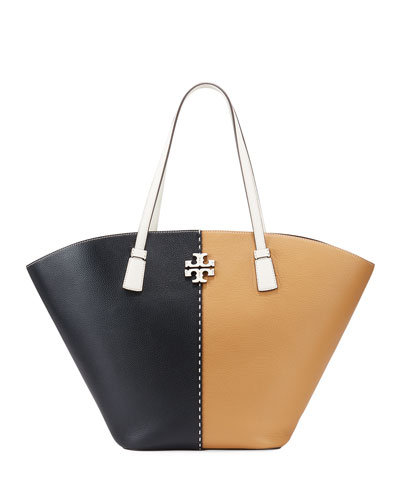 McGraw Colorblock Leather Tote bag
