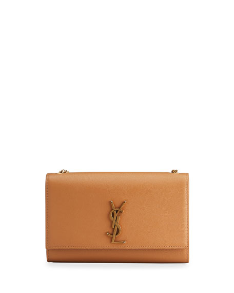 Saint Laurent Kate Monogram YSL Medium Grain de Poudre Chain Bag