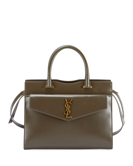 Saint Laurent Uptown Medium YSL Leather Satchel Bag