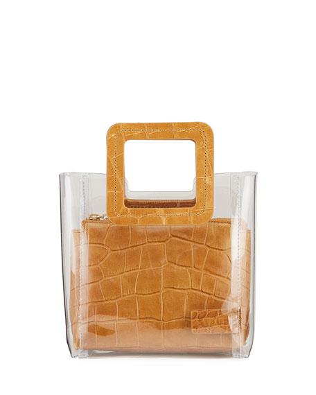 Staud Shirley Mini Square-Handle Tote Bag