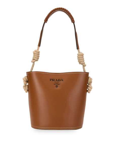 Prada City Knotted Rope Bucket Bag