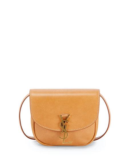 Saint Laurent YSL Mini Flap-Top Leather Crossbody Bag