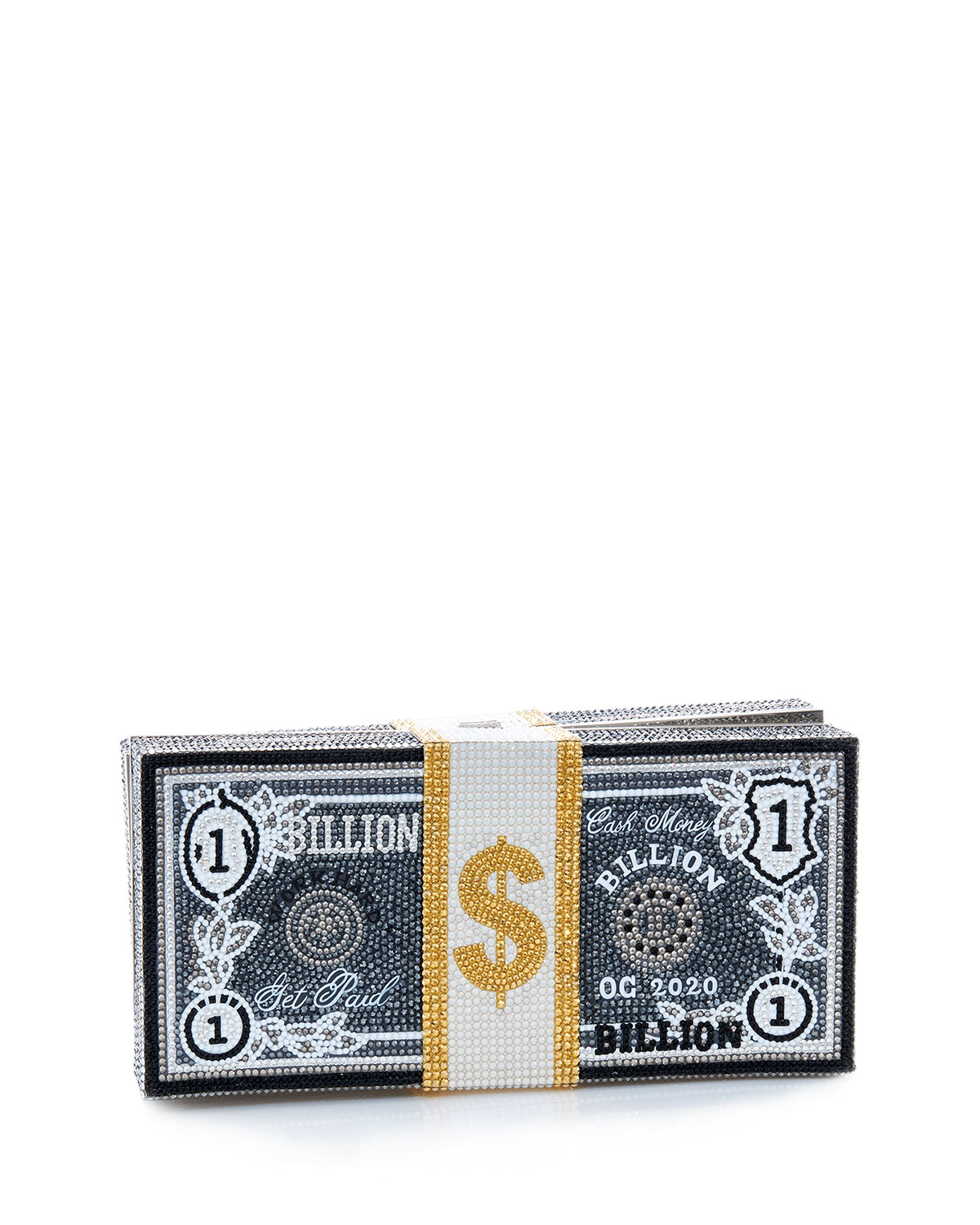 Judith Leiber Leathers STACK OF CASH BILLIONS CLUTCH BAG