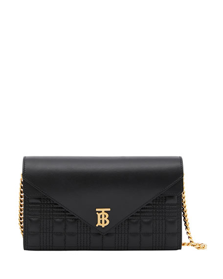 Burberry Hannah Check Quilted Leather Crossbody Bag