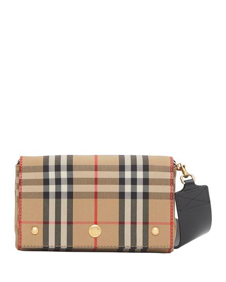 Burberry Hackberry Vintage Check Crossbody Bag