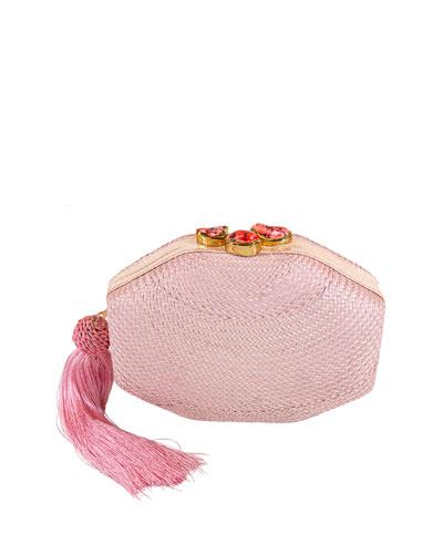 Sofia Woven Octagon Clutch Bag