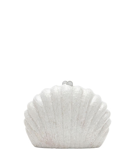 Rafe Clam Shell Minaudiere Clutch Bag