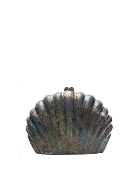 Rafe Clam Shell Minaudiere Clutch Bag