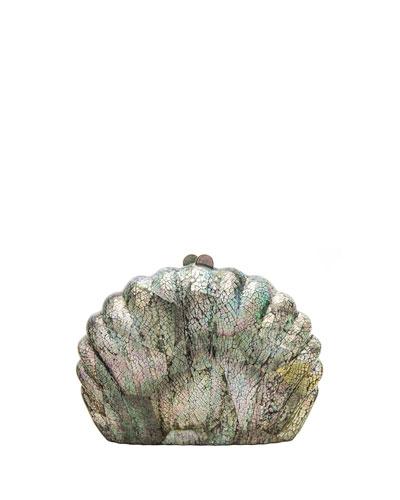 Clam Shell Minaudiere Clutch Bag
