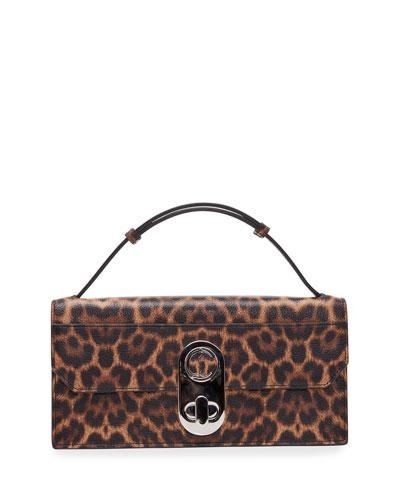 Elisa Leopard-Print Shoulder Bag