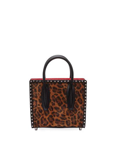 Paloma Small Kitty Calf E Spikes Top-Handle Bag