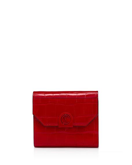 Christian Louboutin Elisa Compact Croco Wallet