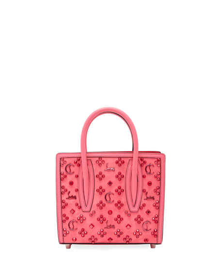 Christian Louboutin Paloma Mini Loubinthesky Suede Top-Handle Bag