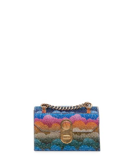 Christian Louboutin Elisa Mini Clowdy Spec Stripes Tissu Shoulder Bag