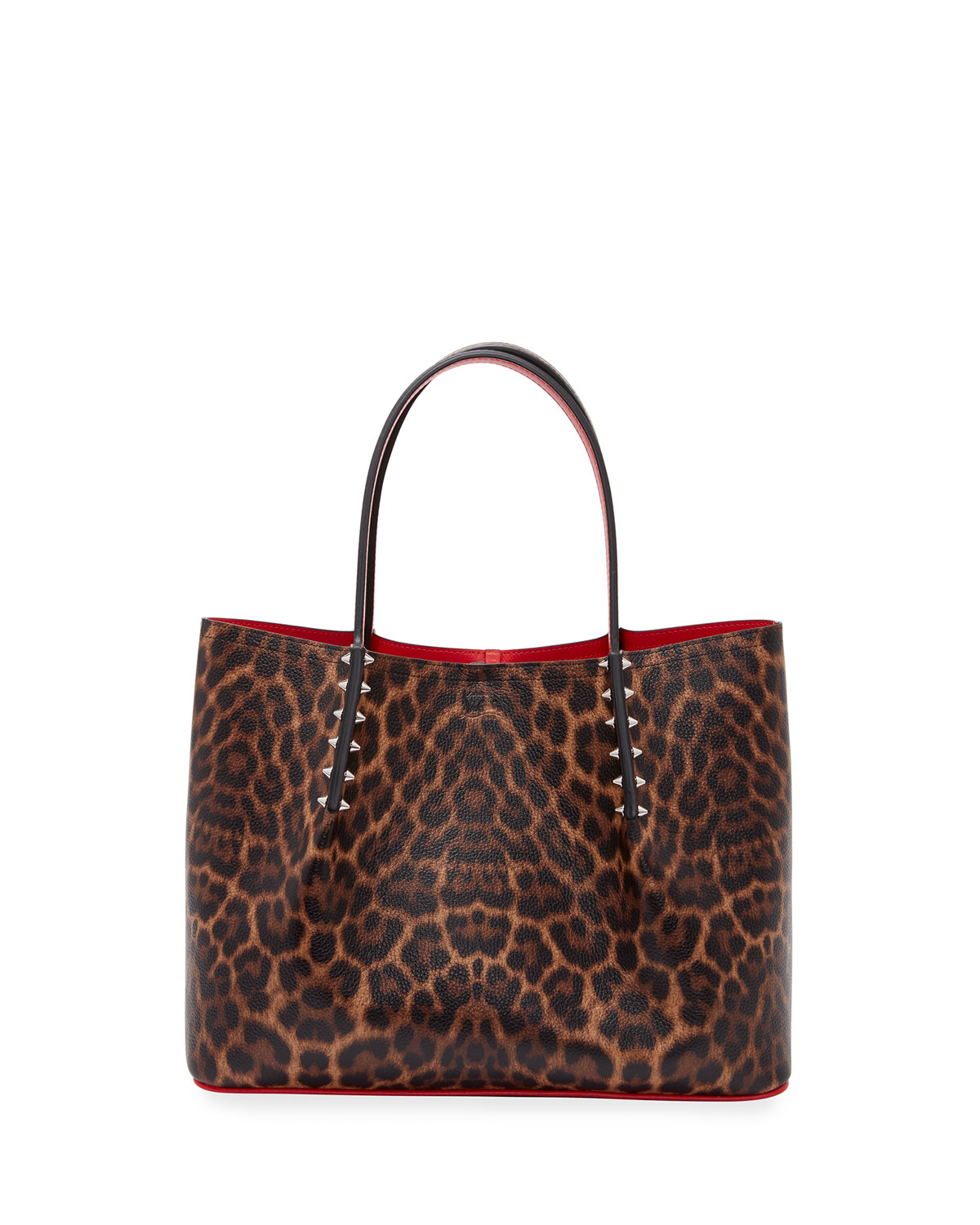 Christian Louboutin CABAROCK SMALL CALF EMPIRE LEOPARD 50S TOTE BAG