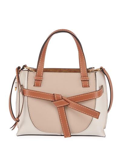 Gate Mini Bicolor Leather Tote Bag