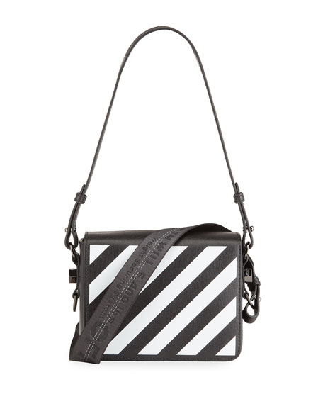 Off-White Diagonal Flap Shoulder Bag