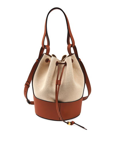 Balloon Small Two-Tone Bucket Bag