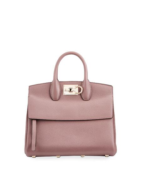 Salvatore Ferragamo The Studio Grainy Top-Handle Bag
