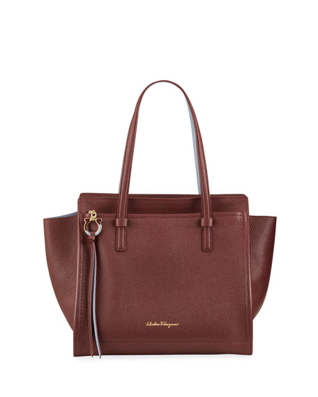 Salvatore Ferragamo Amy Bicolor Tote Bag